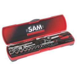 Coffret de douilles et accessoires 1/4 de 45 outils